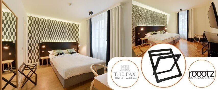 Roootz hotel koffer rek geleverd aan Pax Geneva Switzerland