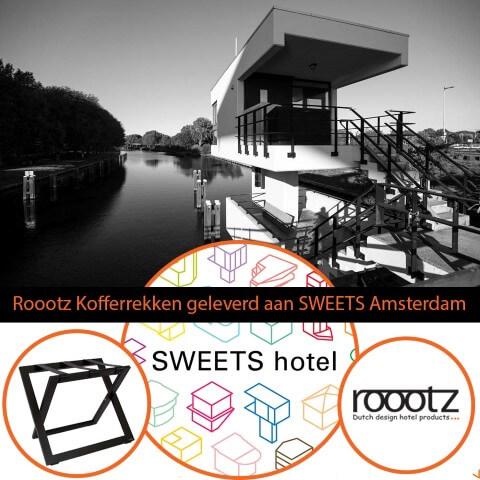 Roootz Hotel Kofferrek in SWEETS hotel | ROOOTZ Hotel Producten
