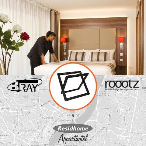 Roootz compact kofferrek in Frankrijk   ROOOTZ Hotel Producten