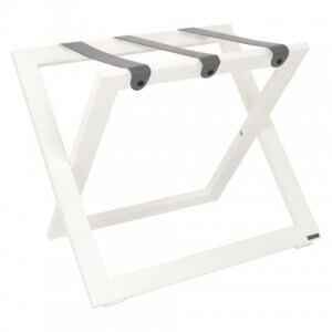 Hotel Luggagerack Suitcase stand White ROOOTZ