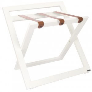 Suitcase Stand Luggage Rack Hotel White ROOOTZ