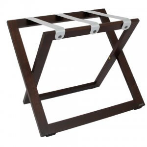 Suitcase Stand Walnut with nylon straps ROOOTZ