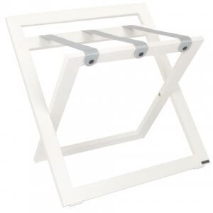 White suitcase stand roootz