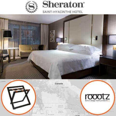 Hotel Kofferrekken geleverd in Canada | ROOOTZ Hotel Producten