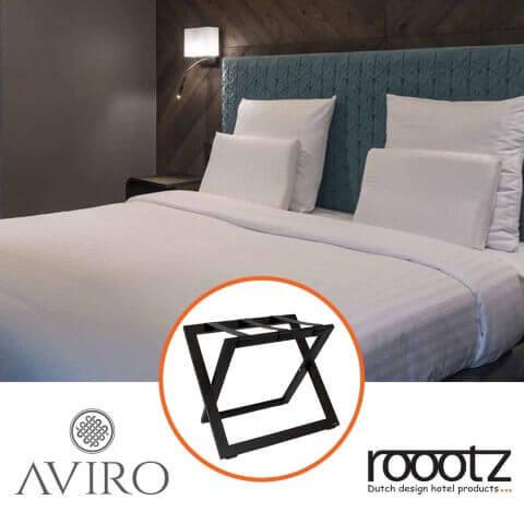 Roootz Kofferablage in Lettland geliefert!    ROOOTZ Hotel Produkte