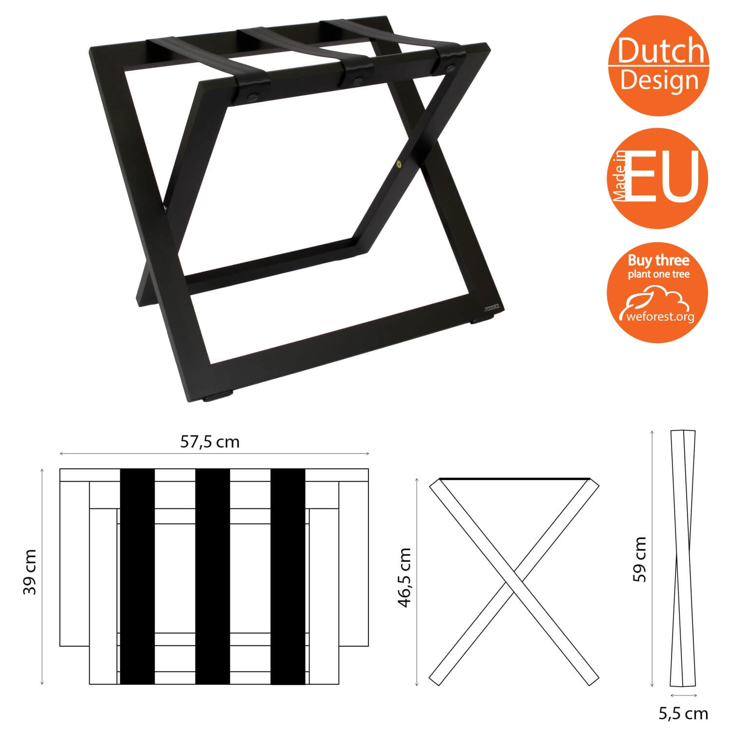 Luggage Racks for hotels BLACK