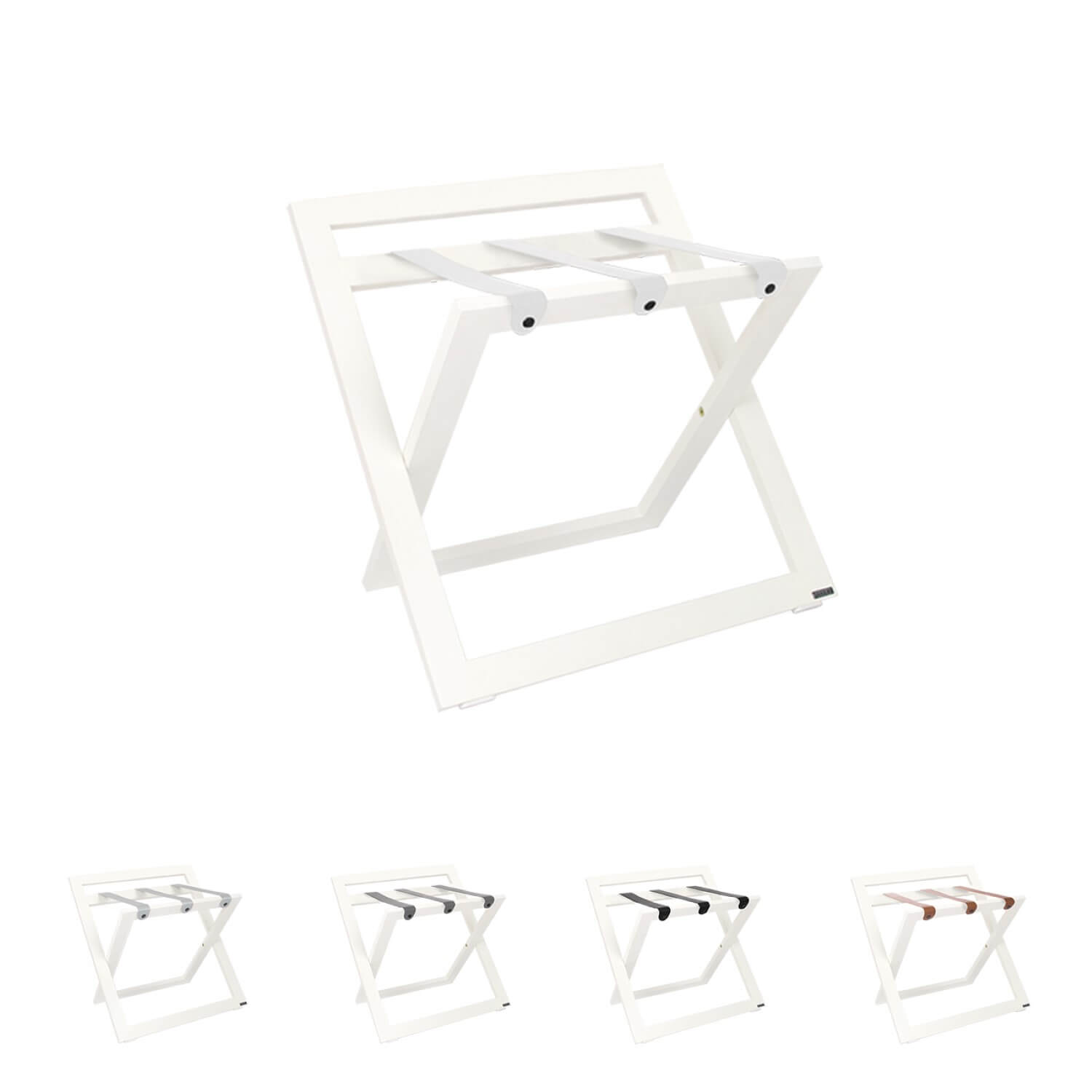 White luggage stand for hotels