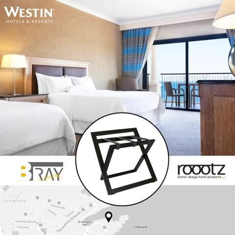 Zwarte Kofferrekken | ROOOTZ Hotel Producten