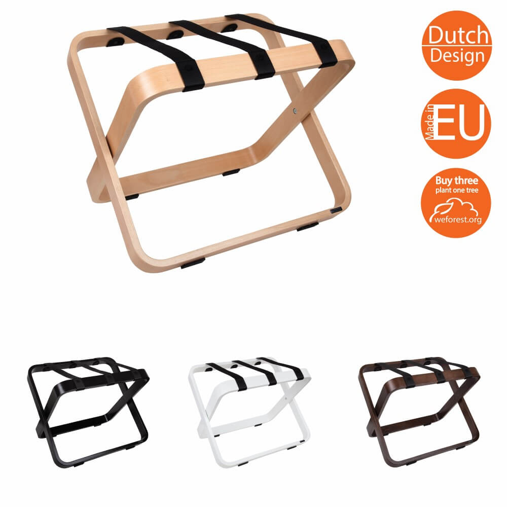 Luggage rack for hotels wood