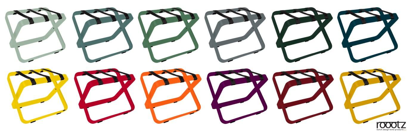 Hotel Luggage Racks differrent colors