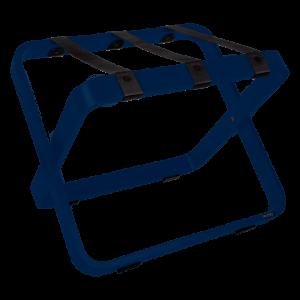 Porte-bagages d'hôtel de couleur bleue