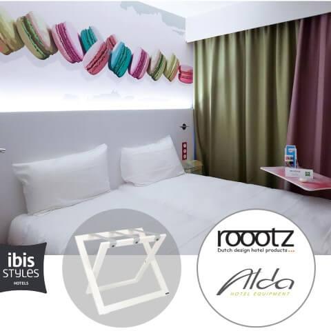Weiße Gepäckträger ROOOTZ Hotelprodukte
