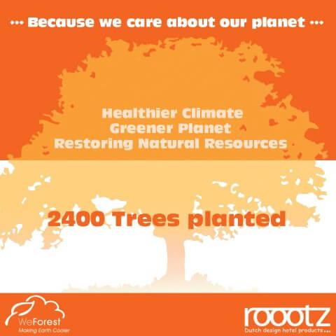 WeForest 2400 Bäume gepflanzt ROOOTZ