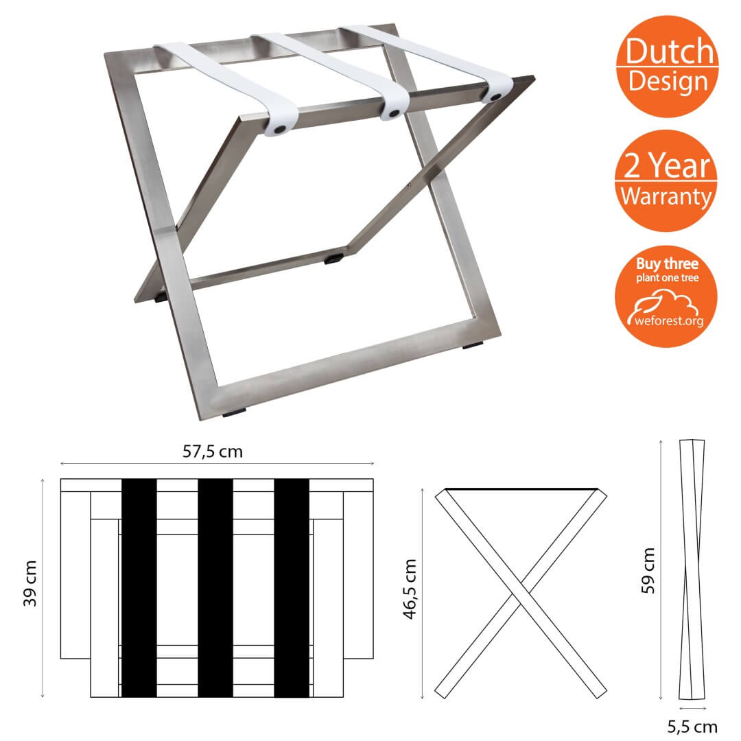 Luggage Rack Stainless steel for hotels