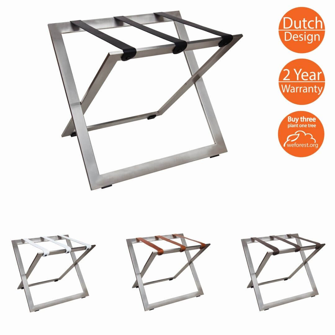 Luggage Racks Stainless steel leather straps