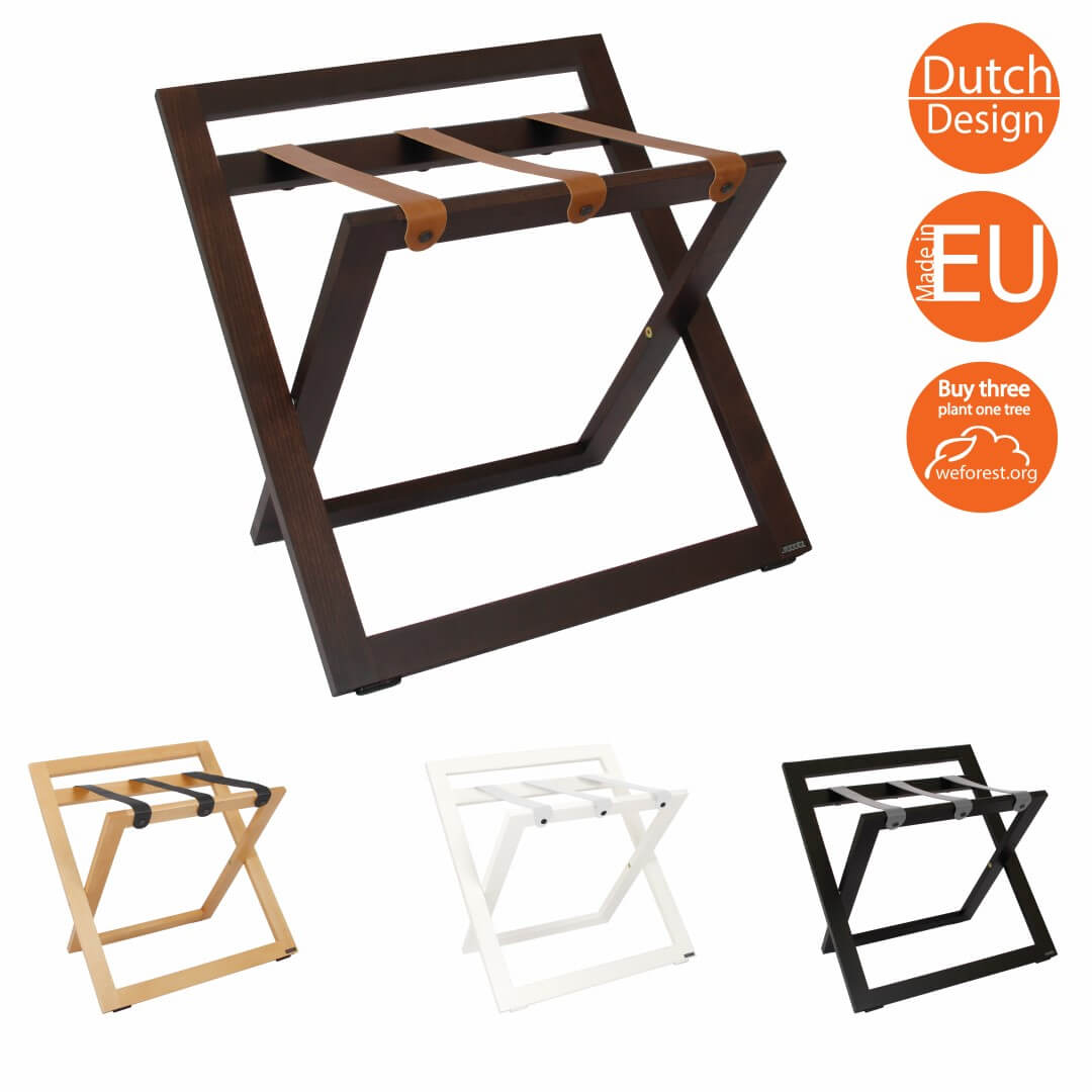 Luggage Racks for hotels wood compact