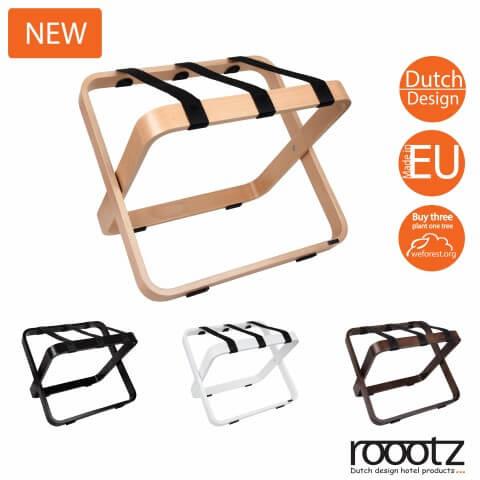 Porte-bagages en bois   Roootz Curvy porte-bagages