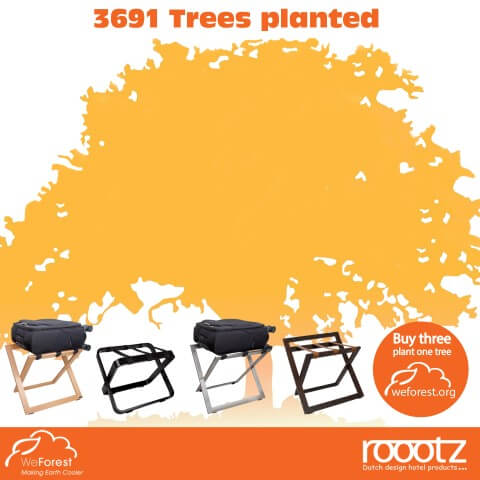 WeForest 3691 Bomen geplant | ROOOTZ Hotel Producten